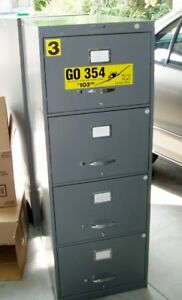 Four Drawer Legal Size Filing Cabinet, Nice Condition