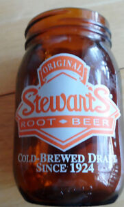 COLLECTIBLE - STEWART'S ROOT BEER MUG (Mason/ Pint Jar)