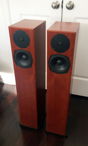 A pair of Totem Sttaf Speakers (Cherry finished)