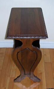 Vintage Mahogany Magazine End Table