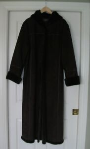 Ladies Full Length Suede Coat