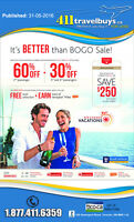 411travelbuys.ca: It's Better than BOGO Sale!