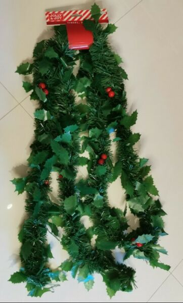 4 pieces BN Christmas tinsel green 2.7 m