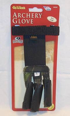 Allen Archery 3 Finger Bow Glove Mossy Oak Camo Camouflage USA Made Size