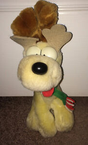 Rare Odie ~ Dog from Garfield Plush Stuffed Animal as Reindeer