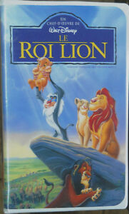 Film VHS de Disney LE ROI LION (5$)