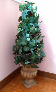 LARGE Silk Artificial Flower Topiary  Arrangement with vase