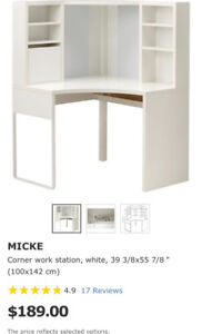 Ikea Corner work desk