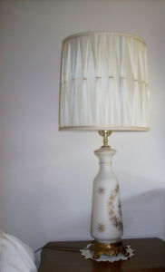 Vintage Glass Bedroom Lamps with Interior Lights