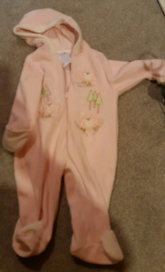 Girls 6-12 month fleece snow suit