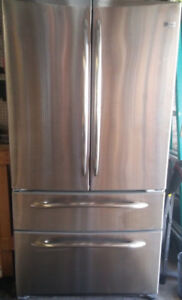 Stainless GE Fridge - For Parts or Repair