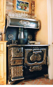 VERY RARE ANTIQUE WOOD BURNING STOVE