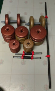 Weight Training Set (Barbell, Dumbbells, Weights)
