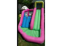 Bouncy castle slide with pump (can be water slide)
