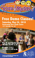 Kids and Music demo class
