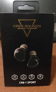 WIRELESS Sport-Oriented Earbuds  (CR8-1 Gold -- New Condition)