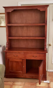 Solid wood hutch, beautiful & versatile with lots of storage