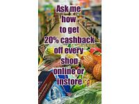 Earn 20% Cashback on your purchases