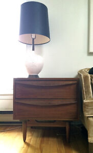 teak nightstand / sidetable