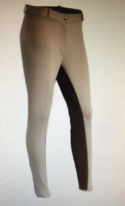New S Beige/Brown Full Seat Breeches