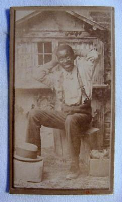 Excellent Antique Carte De Visite (CDV) Of An African American, Black Man
