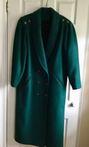 Dark green ladies coat