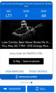 LUKE COMBS, Concert May 30th