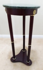 Tall Accent Table with Granite Top