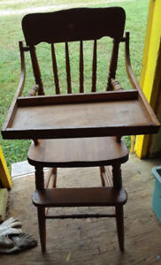 Wooden Baby High Chair - 70 plus years old