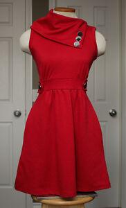 ModCloth - Coach Tour A-Line Dress in Rouge