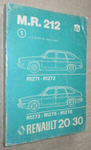 Renault 20 & 30 Workshop Manual mechanical 1979 1271 1272 1273 +