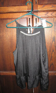 Ladies black tank style blouse from Reitmans size XL *NEWw/tags