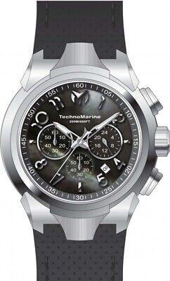 Technomarine TM-718001 Sea Men's 48mm Chronograph Stainless Steel Black Dial - New Technomarine Stainless Steel Chronograph