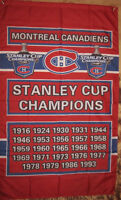 Montreal Canadiens Stanley Cup Champions Flags