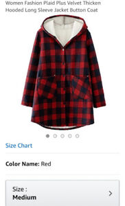 Women's plaid sweater coat