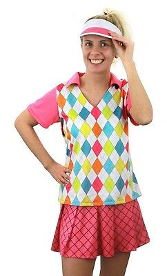 Lady Golf Golfer Pub Golf Hen Party Sports Ladies Fancy Dress Costume Sizes 6-16