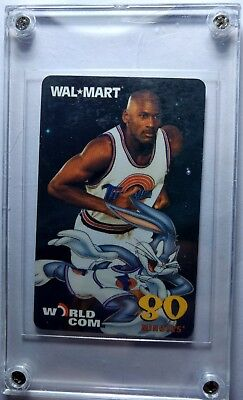 1997 Wal Mart World Com Michael Jordan Space Jam  80 Minutes Rare Phone Card