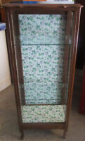 Wood and glass display unit 4 sale
