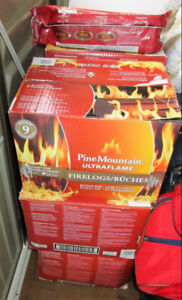 6 boxes Pine Mountain Ultra Flame Fire Logs.