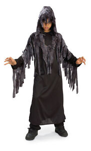 Zombie Ghoul Costume - black gown with overdrape and hood $10