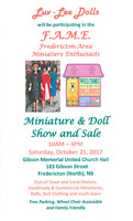"Luv-Lee Dolls at ""2nd annual FAME Miniature & Doll Show/Sale"""