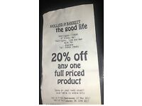 Holland and Barretts 20% off Voucher