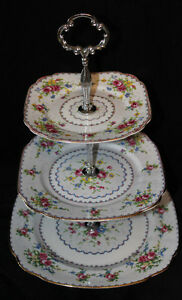 PETIT POINT VINTAGE TIERD CAKE STANDS
