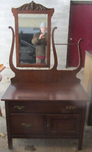 Solid wood antique commode 4 sale