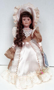 Porcelain Rebecca Collection Doll on Collector Stand