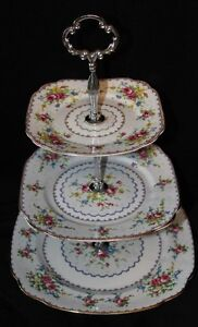 PETIT POINT 3 TIER CAKE STAND