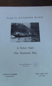Vintage, Sheet Music Piece, Katherin Ward, 1918