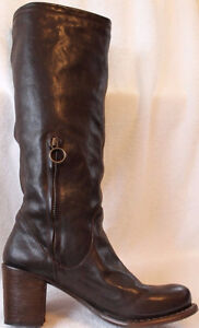NEW Fiorentini and Baker Dark Brown Leather Boots EU 39 US 8.5