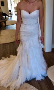 Casablanca Strapless Wedding Dress - Azalea - Size 8 - Ivory