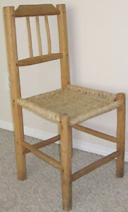 Vintage woven chairs